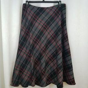 Lovely Jones Wear Plaid Skirt Size 14